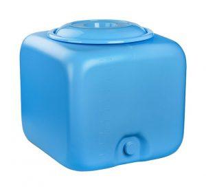 Бак для душа 100 литров квадратный  голубой