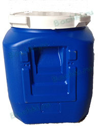 Бидон 45 литров квадратный белый/синий