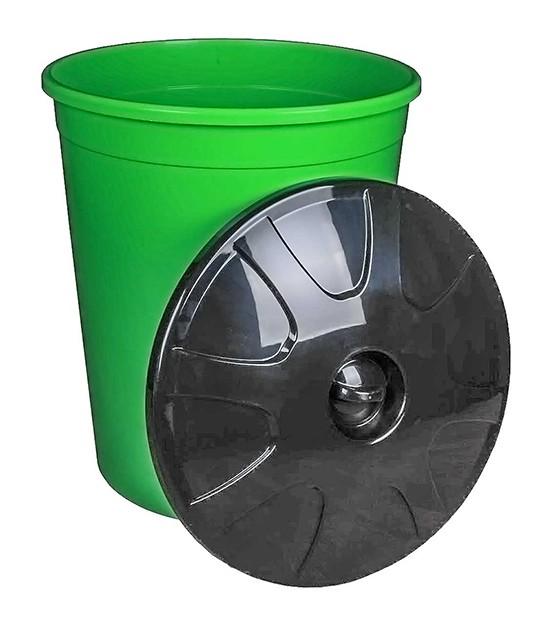 Бак 225 литров зеленый с крышкой
