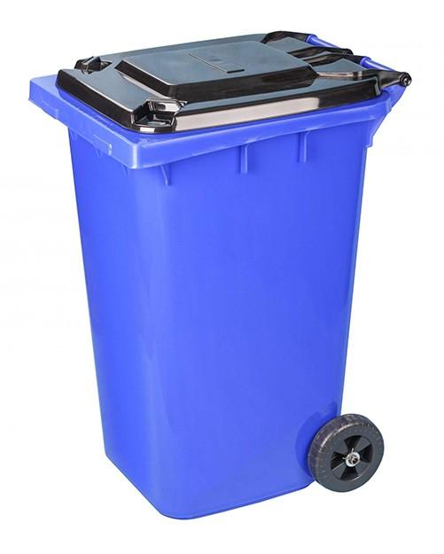 Бак для мусора 240 литров на колесах синий